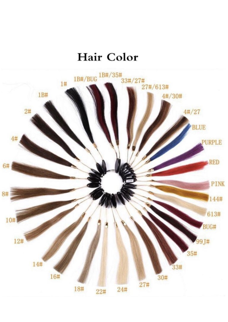 hair colour palette